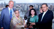 'প্ল্যানেট ৫০-৫০ চ্যাম্পিয়ন' শেখ হাসিনাকে অভিনন্দন