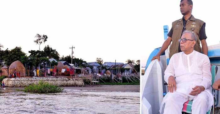 মিঠামইনে উন্নয়ন প্রকল্প পরিদর্শন করলেন রাষ্ট্রপতি